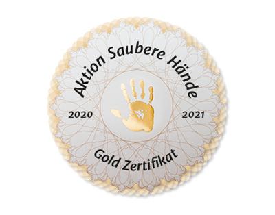 Aktion Saubere Hände Gold Zertifikat 2020