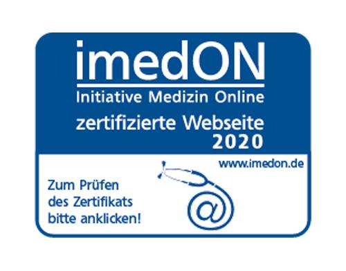 imedON - Initiative Medizin Online - zertifizierte Website 2020