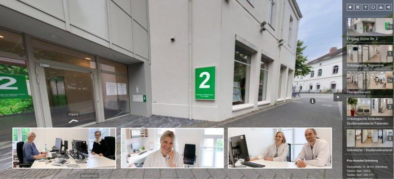 Neue Räumlichkeiten: Virtueller Rundgang Onkologie
