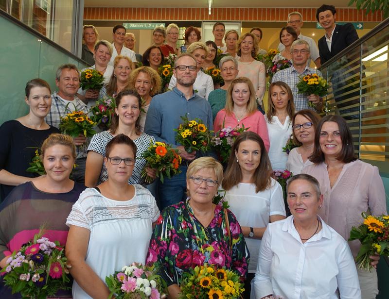 Freudige Gesichter bei der Feierstunde für die Pius-Jubilare Ende August.