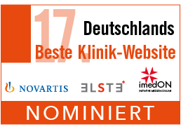"""Nominiert für """"Deutschlands beste Klinikwebsite"""""""
