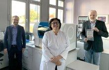 Prof. Dr. Axel Hamprecht (Klinikum Oldenburg), Dr. Regina Prenzel (Pius-Hospital) und Dr. Eduard Petershofen (DRK-Blutspendedienst)