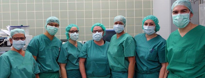 OP-Team in der Augenheilkunde im Pius-Hospital