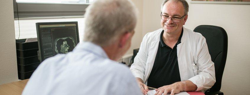 Patientengespräch in der Tagesklinik
