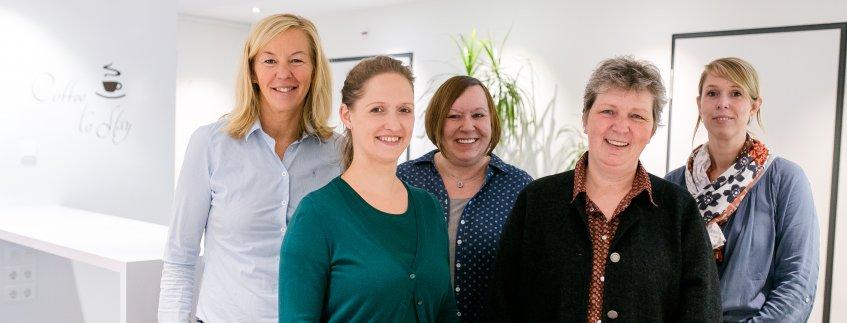 Das Team der Abteilung für Personal im Pius-Hospital