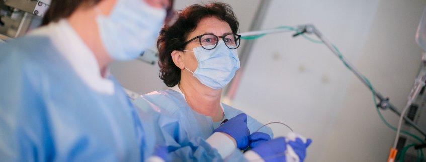 Bronchoskopie in der Klinik für Innere Medizin, Pneumologie und Gastroenterologie Pius-Hospital