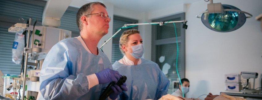 Gastroskopie in der Klinik für Innere Medizin, Pneumologie und Gastroenterologie Pius-Hospital