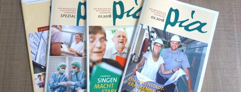 Das Krankenhausmagazin pia vom Pius-Hospital Oldenburg