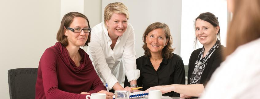 Das team der Abteilung für Qualitätsmanagement