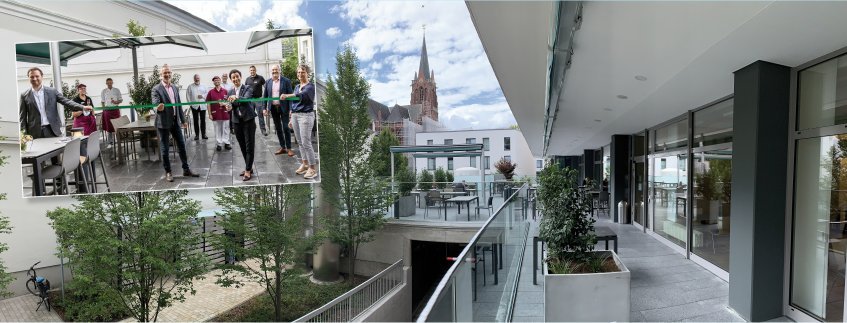 Pius-Hospital weiht neue Außenterrasse ein